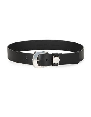 Logo Leather Belt @...