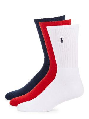 Ribbed Crew Socks, 3-Pack...