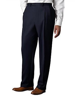66d2aaba Lauren Ralph Lauren - Wool-Cashmere Blend Pleated Pants