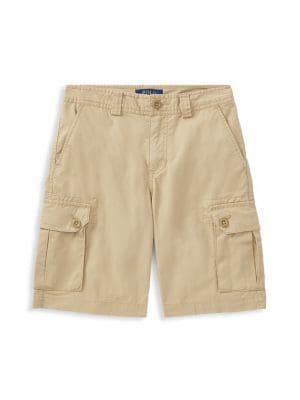 Boy's Cotton Twill Cargo...