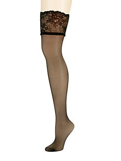 4095ae9dd QUICK VIEW. Donna Karan. Sheer Thigh Highs Nylons