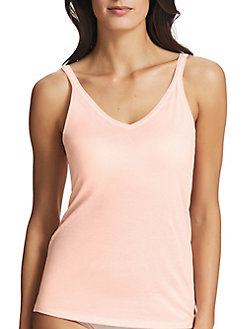 658a3cdc91362 Pure Cotton Thin Strap V Neck Camisole WHITE. QUICK VIEW. Product image.  QUICK VIEW. Fine Lines