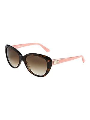 cb5d79d8418a Kate Spade New York - 55MM Angelique Two-Tone Plastic Cat-Eye Sunglasses -  lordandtaylor.com