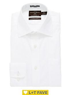 647ea6cf5b3f Product image. QUICK VIEW. Black Brown 1826. Classic Fit Non-Iron Pinpoint Dress  Shirt