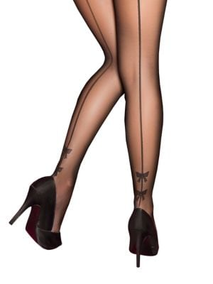 Image of Bow Backseam Tights