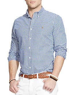 fe0bbfe86527 Polo Ralph Lauren. Classic-Fit Cotton Oxford Shirt.  89.50. brands we love  · Check Button-Down Shirt BLUE WHITE. QUICK VIEW. Product image