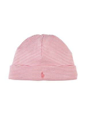 Baby Girl's Striped Beanie...