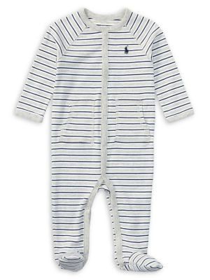 Snap Front Footed Coverall...