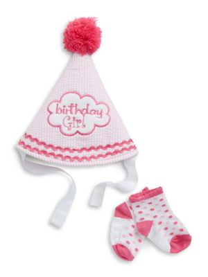 TwoPiece Birthday Girl Hat And Socks Set