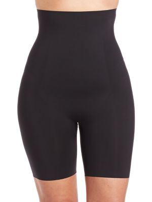 Image of Plus Thinstincts High-Waist Mid-Thigh Shaper Shorts