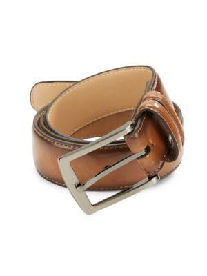 Tan Leather Belt @...