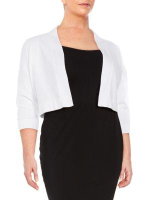 Cotton Jersey-Knit Cardigan by Calvin Klein Plus
