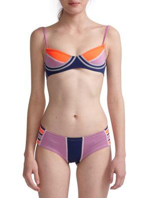 Colorblock Bikini Top by Cynthia Rowley