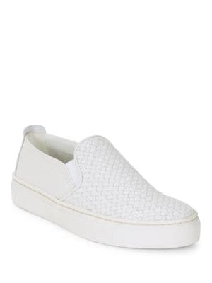 Sneak Name Leather Slip-On Sneakers by The Flexx