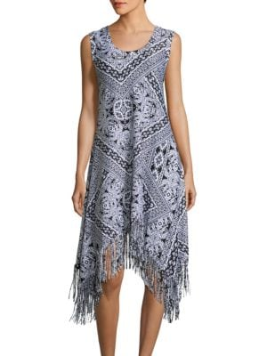 Printed Cover Up Dress by Coco Rave