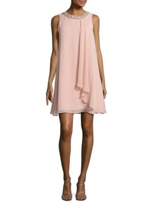 Beaded Trapeze Dress by Vince Camuto