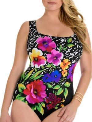 Bouquet One-Piece Swimsuit by Longitude