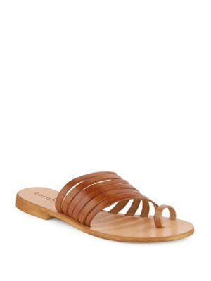 Palermo Leather Toe Ring Slides by Cocobelle