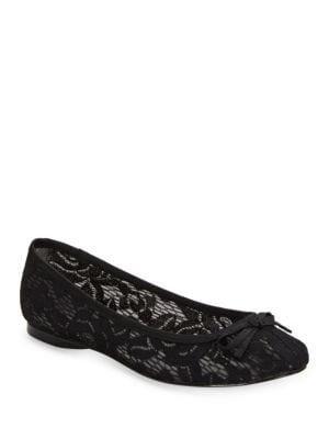 Sage Lace Ballet Flats by Adrianna Papell