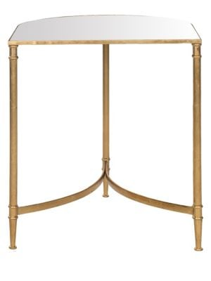 Nevin Mirror Top Gold Accent Table