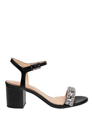 Stargaze Embellished Ankle-Strap Sandals by Belle Badgley Mischka