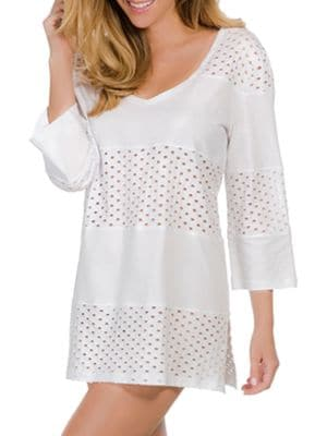 Spliced V-Neck Tunic Coverup by Ecoswim