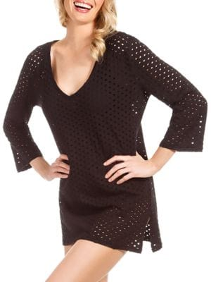 Jacquard V-Neck Tunic Coverup by Ecoswim
