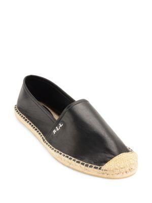 Danita Sheepskin Leather Espadrille Flats by Lauren Ralph Lauren