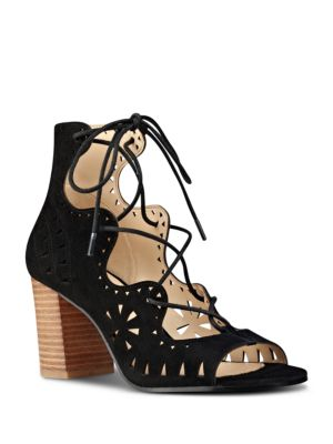 Gweniah Suede Lace-Up Sandals by Nine West
