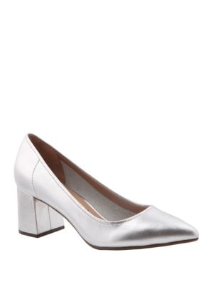 Finely Metallic Leather Pumps by Nina