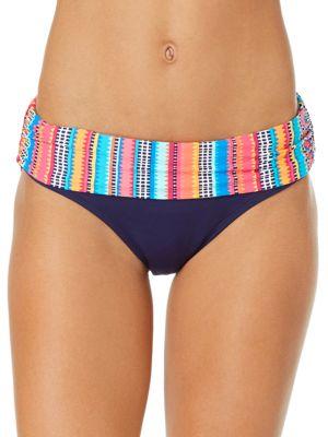 Foldover Mid Rise Bikini Bottom by Anne Cole