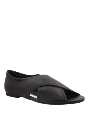 Serafina Leather Peep Toe Flats by Nina