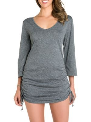 V-Neck Heathered Dress by Ecoswim
