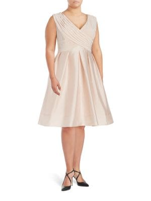 Ruched Taffeta Dress by Adrianna Papell