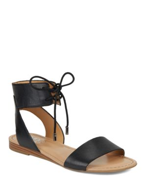 Glenys Leather Ankle Tie Sandals by Franco Sarto