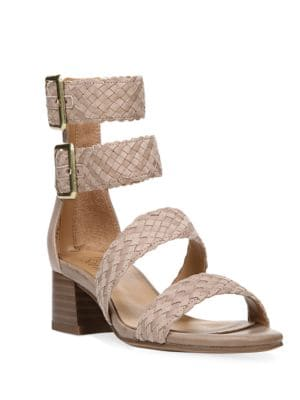 Tomo Leather-Blend Double Ankle Strap Sandals by Franco Sarto