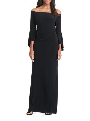 Off-the-Shoulder Jersey Gown by Lauren Ralph Lauren