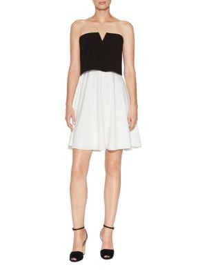 Tiered Crepe Dress by Halston Heritage