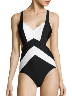 Regatta X-Back One-Piece Swimsuit by MICHAEL MICHAEL KORS