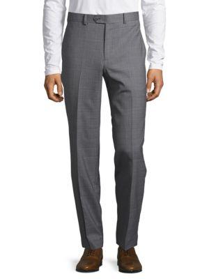 Slim-Fit Windowpane Suit...