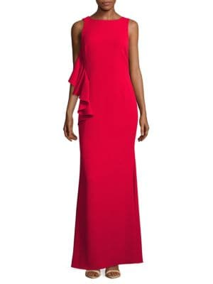 Ruffled Sleeveless Gown by Badgley Mischka