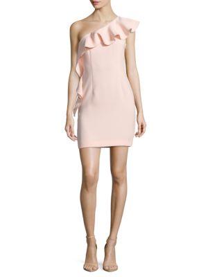 Zoey One-Shoulder Crepe Dress by Rachel Zoe