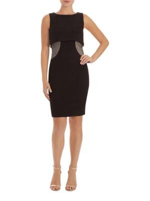 Studded Sleeveless Sheath Dress by JAX