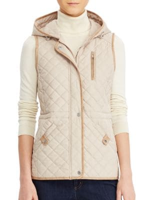 Quilted Hooded Vest @...