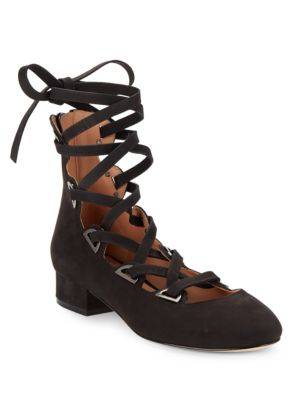 Hea Lace-Up Suede Heels by Sigerson Morrison