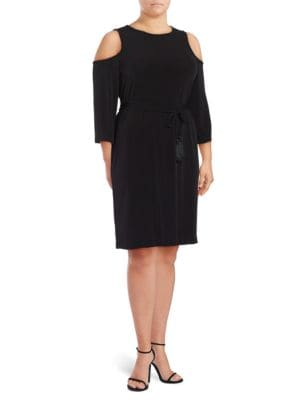 Long Sleeved Cold Shoulder Dress by Calvin Klein Plus