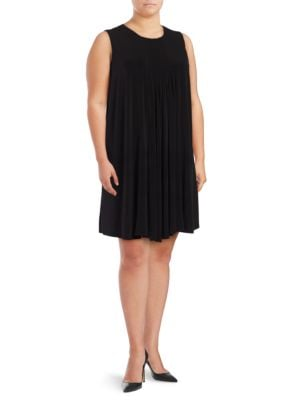 Pintucked Shift Dress by Calvin Klein Plus