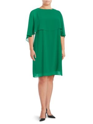 Plus hiffon Popover Shift Dress by Vince Camuto Plus