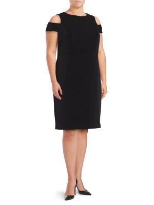 ??old-Shoulder Ponte Sheath Dress by Vince Camuto Plus