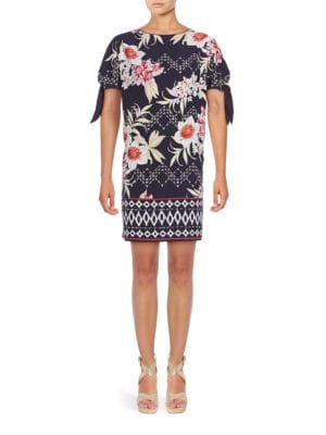 Floral Knotted Shift Dress by Vince Camuto Plus